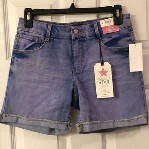 Vanilla Star stretch denim midi shorts 16